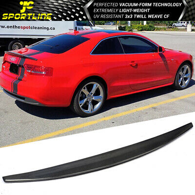 FOR 08-16 AUDI A5 B8 CAT STYLE HIGHKICK DUCKBILL CARBON FIBER TRUNK SPOILER WING