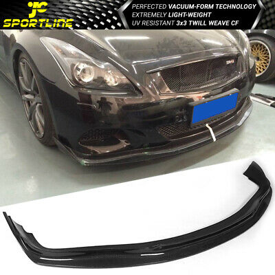 FITS 08-14 INFINITI G37 Coupe AE Style Front Bumper Lip Carbon Fiber