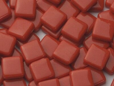 Red Gloss Glass Tiles 1cm - Mosaic Tiles Art & Craft Supplies