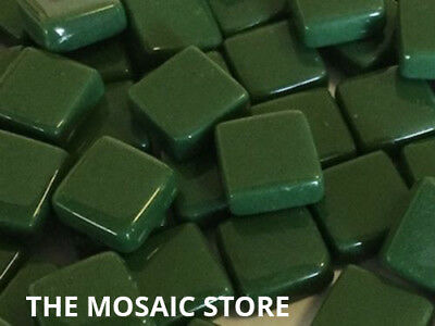Dark Green Gloss Glass Tiles 1cm - Mosaic Art & Craft Supplies