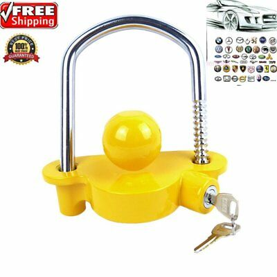 Universal Caravan Trailer Hitch Tow 50mm Steel Ball Lock & Security key Q#