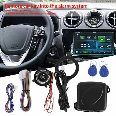 Car Alarm System Remote Control Central Door Lock Wireless Entry System Kit Q#