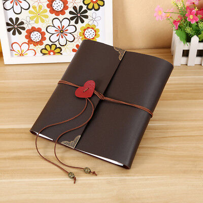 30 Pages Vintage Leather Photo Album Scrapbook Travel Holiday Memory Note Book