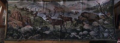 Highland Stags Vintage Tapestry Wallhanging Large.