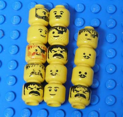 LEGO Minifig, Head Assorted Yellow  x14PC
