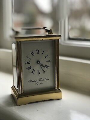 Vintage Brass Carriage Clock by Charles Frodsham of London - GWO