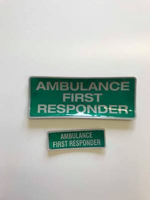 Encapsulated reflective 250mm badge set AMBULANCE FIRST RESPONDER  style1