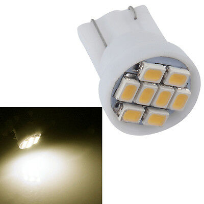 1pc Xenon White T10 1206 8-SMD LED Wedge Car Light Bulbs W5W 12V F@