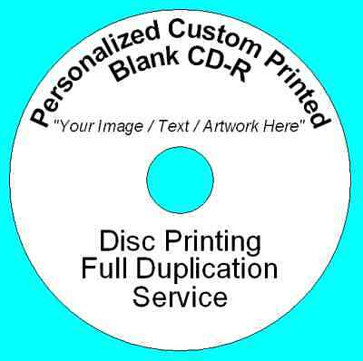 1000x Personalized Custom Printed CD-R Disc Printing Duplication Image Art Audio