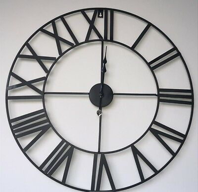 Antique Contemporary Skeleton Metal Wall Clock Indoor Black 40cm,60cm,78cm,88cm