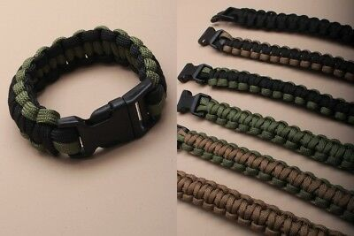 wholesale job lot of 25 x  paracord bracelets in asst colours - JTY043