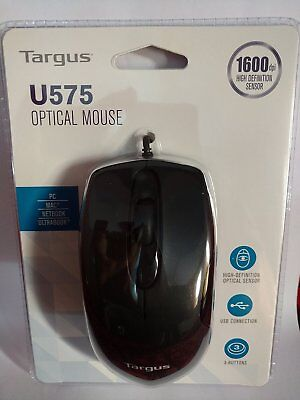 Targus U575 Black USB Three Button Wired Optical Mouse