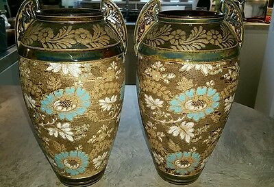 "Royal Doulton Lambeth Slaters Vases ""Stunning"""