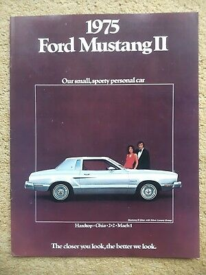 1975 Ford Mustang II Brochure, Dealer Sales-Showroom