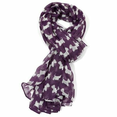 West Highland Terrier Dog Print Scarf Great Gift For Westie Fans Fast Despatch