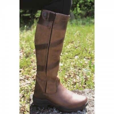 Mark Todd Ladies WATERPROOF TALL ZIP Country Boot Brown Leather Sizes 37- 42