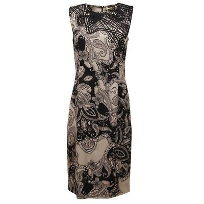9412U abito tubino donna ETRO nero beige vestito dress woman