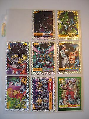 Wizard  Trading Cards Serie I Savage Dragon     Etc...   8 Cards   2 A 9 Tbe