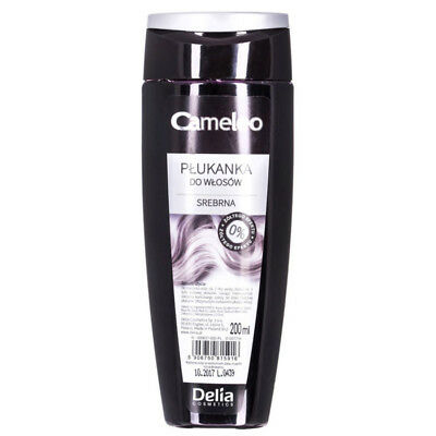 DELIA CAMELEO COLOUR HAIR RINSE SILVER - Eliminates Yellow Shades on Hair 200ml