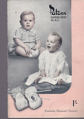 Vintage Patons R5 Knitting book baby knitting patterns