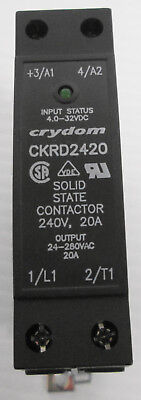 Crydom CKRD2420 Solid State Contactor 240V 20A Input 4.5-32VDC Output 24-280VAC