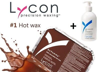 Lycon Hot Wax & Pre waxing Oil Bundle set NEW stock UK