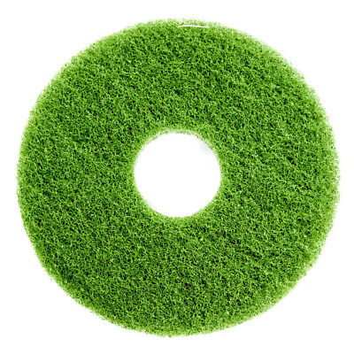 "5-Pack - Green 12"" Heavy Duty Floor Scrubbing Pad Polyester Fiber Round"
