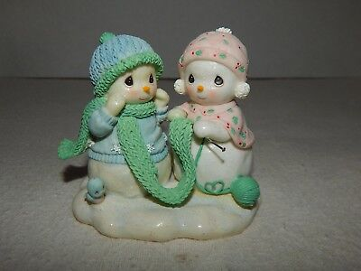 """2005 Precious Moments SNOWFRIENDS """"Any Length to Make You Happy"""" Knitting Scarf"""