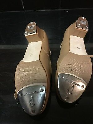 Womens BLOCH Showstopper Tan Tap Shoes size 10 1/2