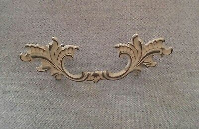 "Belwith Brass French Provincial Drawer Pull 2 1/2"" Bore P1710 White Gold Shabby"