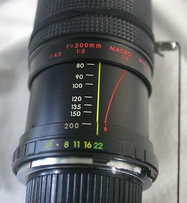 Hanimex Automatic Zoom C-Macro 1:4.5 F=80-200mm 52 No.231802 MC Lens With Case