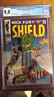Nick Fury Agent of Shield #1 (1968) CGC 9.8 perfect white pages 1st Marvel comic