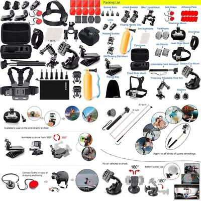 Zookki Accessories Kit For Gopro 6 Hero 5 Session 4 Silver 3 Black Sj4000/Sj5000