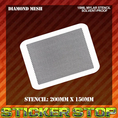 DIAMOND MESH MYLAR STENCIL (Airbrush, Craft, Texture, Micro, Re-usable)