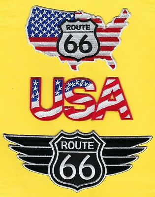 Route 66 Patch Set ~ Get Your Kicks On Route 66 ~ 3 Awesome Collector Patches