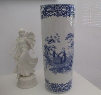 SPODE - BLUE ROOM - Large Vase - GIRL AT WELL - Made in England