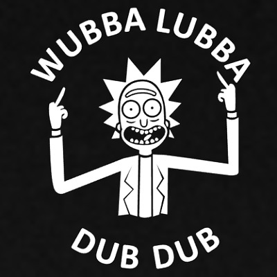 3M Graphics Wubba Lubba Dub Dub Rick And Morty Vinyl Car Truck Decal Sticker