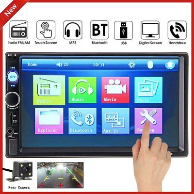 """7"""" TFT HD1080 Touch Screen 2 DIN Car MP3 MP5 Player Bluetooth Stereo FM Radio O"""