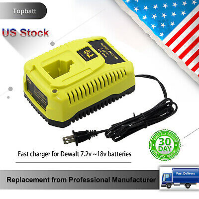 Replace for Dewalt 18V DC9310 Battery Charger for 7.2-Volt to 18-Volt NiCd/NiMh