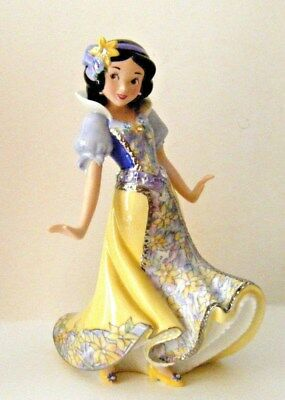 "Disney Snow White Porcelain Figurine ""royal Treasure"" Bradford New W/coa #a0199"