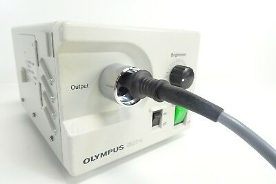 Olympus CLK-4 Halogen Light Source Air Supply w/ WA03210A Light Cable