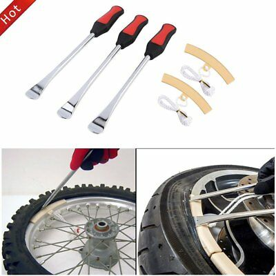 3pcs Spoon Motorcycle Tire Iron Changing Rim Protector Tool Combo New Lever _
