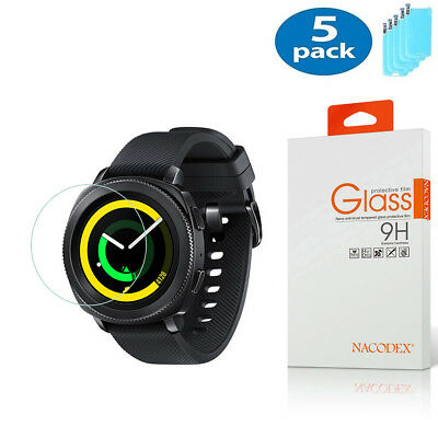5X Nacodex For Samsung Gear Sport Smartwatch Tempered Glass Screen Protector