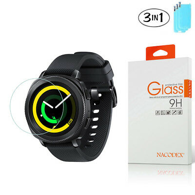 3X Nacodex For Samsung Gear Sport Smartwatch Tempered Glass Screen Protector