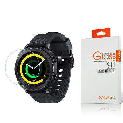 Nacodex For Samsung Gear Sport Smartwatch Tempered Glass Screen Protector