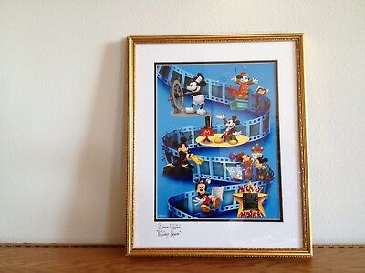 Disney - Mickey Mouse - Autographed - Framed Lithograph w/35MM film cells #2051