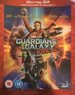 Guardians of the Galaxy Vol. 2 (3D + 2D Blu-ray, 2 Discs) New with Slip Cover