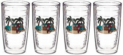 725bce534bc Tervis Tumbler Woodie 16-Ounce Double Wall Insulated Tumbler, Set of 4