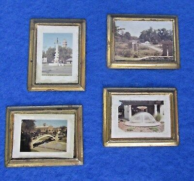 LOT OF 2 Vintage Miniature Painted Metal Dollhouse Picture Frames ...
