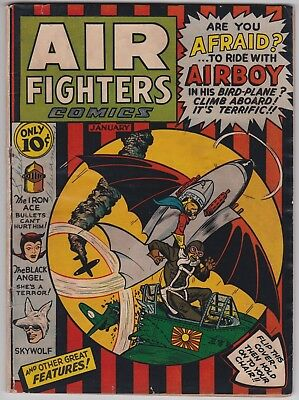 Air Fighters Comics Vol 1 #4 G+ 2.5 Airboy Charles Biro 1943!-